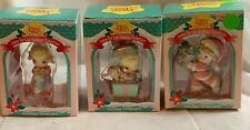 1995 1996 Precious Moments Home for Holidays Collection Ornaments- 3- Nib