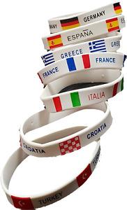7 x Gummi Armband 7 Länder EM Fußball Fan Deutschland