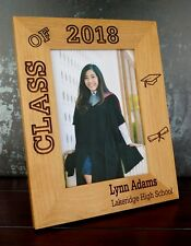 Personalized 5x7 Photo Frame, Graduation, Class of 2018, Custom Laser Engraved
