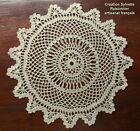 NAPPERON CROCHET MAIN CREATION SYLVETTE RAISONNIER ARTISANAT FRANCAIS ROND 30cm