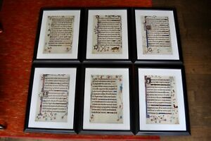 Luttrell Psalter Illuminated Manuscript Facsimile 6 PAGES PROFESSIONALLY FRAMED