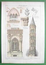 ARCHITECTURE PRINT : BRICKWORK Padua Verona Milan Campanile Ospedale Maggiore