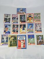 Lot of 16 Nolan Ryan Baseball Trading Cards - Pacific Trading, Topps, Donruss