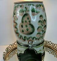 M A Hadley Vintage Samovar Water Drink Cooler Pear Grape 16 3/4 Serving #B99