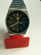 VINTAGE SEIKO 5 AUTOMATIC MILITARY STYLE 7009-3130 MEN'S WATCH
