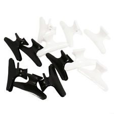 12 Hairdressing Hairdressers Salon Hair Claw Section Clip Clamps Black White