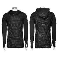 2019 Punk Rave Mens Black Steampunk Top Sleeveless Brand quality T Shirt T438