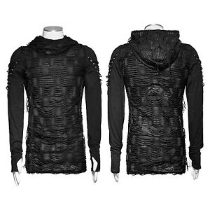 2021 Punk Rave Mens Black Steampunk Top Sleeveless Brand quality T Shirt T438