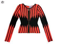 Herve Leger x BCBGMaxAzria Merida Black & Red Size S Spandex Women's Jacket