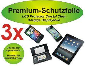 3x Premium-Schutzfolie 3-lagig Sony Xperia Z2 - kristallklar blasenfrei