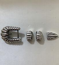 Brand Name ? Look At Pictures Vintage Navajo Silver 925 Belt Buckle Set