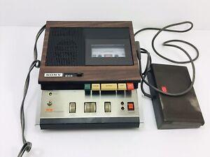 Vintage Sony BM-46 Dictator Transcriber recorder w/ FS-35 Foot control Pedal,