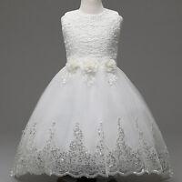 Girls Formal Sleeveless Tulle Princess Dress Wedding Bridesmai Dresses As Xmas