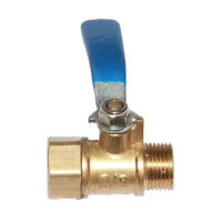 Female to Male Thread Brass Ball Valve Full Switch Valve Handle 3/8''' Blue