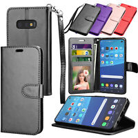For Samsung Galaxy S10 Plus S10E Folio PU Leather Card Holder Wallet Case Cover