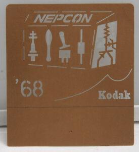 Kodak 1968 NEPCON Machinist Conference Chemical Milling Promo Piece EX++ X224