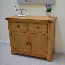 Beaufort Oak Small Sideboard / Small Storage Cupboard / Rustic Kitchen / New