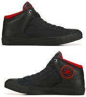 New CONVERSE Chuck Taylor Street hi top athletic Sneakers Mens blk red all sizes