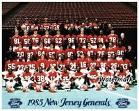1985 USFL New Jersey Generals Color Team Picture 8 X 10 Photo Picture