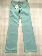 BODEN dusty green cotton bootcut   trousers   size 8R NEW. low rise