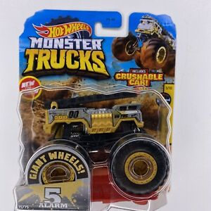 Hot Wheels, Gold 5 Alarm Monster Truck, Die-Cast Vehicle, 1:64 Scale