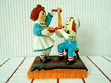 Danbury Mint 2000 Raggedy Ann & Andy Home Cookin' Figurine Preowned