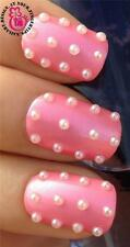 x350 PINK HALF PEARL NAIL ART SHAPES BEADS DECORATIONS ALLOYS RESIN #540