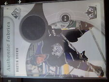 2005-06 Upper Deck SP Game Used Dustin Brown Authentic Fabrics Single Jersey