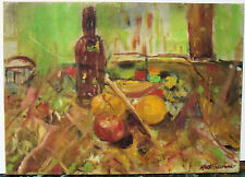 """LUNCH STILL LIFE"" by Ruth Freeman OIL PAINTING ON CANVAS BOARD 10"" X 14"""