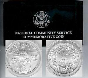 1996 Community Service Silver $1 Dollar BU UNC Coin