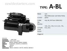 Mercruiser starter motor suit 4 cyl, V6, V8 from 1998-2012. Also Volvo Penta