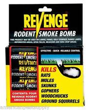 Rodent Smoke Bombs (48 Pak) Mole Gopher Woodchuck Rat Squirrel Skunk Killer Bomb