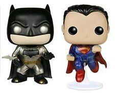 2 Set Batman VS Superman Dawn of Justice Metallic Pop Vinyl Figures