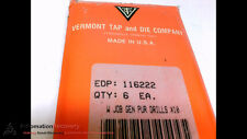 VERMONT TAP AND DIE CO. 116222 - PACK OF 6 - W GENREAL PURPOSE BIT, NEW #203193