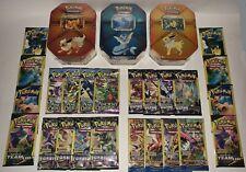 Jolteon & Flareon & Vaporeon Tins Pokemon Trading Cards NEW Factory Sealed ALL 3