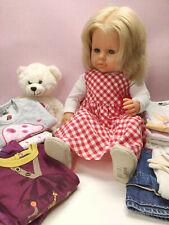 Zapf Puppe Mädchen blond Spielpuppe 65 cm XL Zubehör Kleidung Paket
