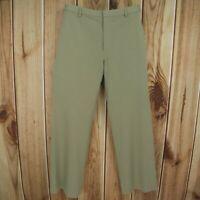 Banana Republic Dress Pants Womens Size 8R Brown Flat Front Belt Loops CAREER!