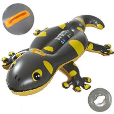 Wasser Spieltier Reittier Spielzeug Matratze mit Griff 2 Luftkammern Gecko Rider