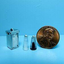 Dollhouse Miniature Restaurant Napkin Dispenser & Salt and Pepper Shakers 56043