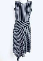 Banana Republic Asymmetrical  Black White Women Dress. Size Medium. NWT.