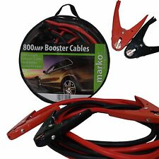 EXTRA HEAVY DUTY CAR VAN JUMP LEADS LONG BOOSTER CABLES BATTERY CHARGER 800AMP