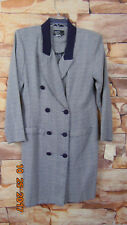 Women's Blue/White  Plaid Rayon/Poly DAWN JOY Vintage Dress Size 13-14 USA $64