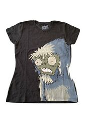 Plants Vs Zombies Ladies T Shirt- Zombie Yeti-Small Brand New