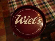 rare plateau émaillé biere belge WIEL'S bar apéritif bistrot vintage  annee 50