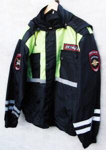 Russian Po-lice Road Patrol Service DPS Waterproof Reflective Jacket Original
