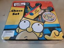 Vintage 1998 The Simpsons 3D Tin Box Chess Set. Bart Homer Lisa Maggie Marge