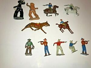 11 Vintage  Lead Figure Cowboys, Made in England