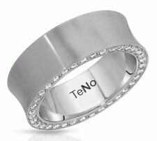 TENO MADE GERMANY RING 0.75 CTW SUPER CLEAN DIAMOND HYPOALLERGENIC ST/STEEL. NEW