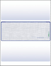 Blank Check Paper Stock computer Check in Middle Linen Blue Count 25 WITH SIG