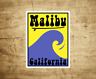 "Malibu Beach California Sticker Decal Beach Ocean Surfing Vinyl 3"" x 3"" Surfer"